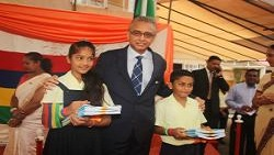 Celebration of Independence Day at the Ramsoomer Balgobin Government School at Dagotiere