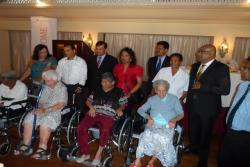 Distribution ceremony of the Commode Wheel Chairs