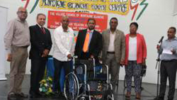 Distribution of wheelchairs - Montagne Blanche