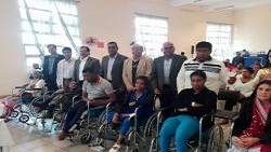 Distribution of wheelchairs - Riche Mare