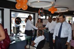 Visit at Orange shop
