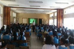 SSS Pamplemousses College talk on 'Je Recycle les mobiles et les piles'